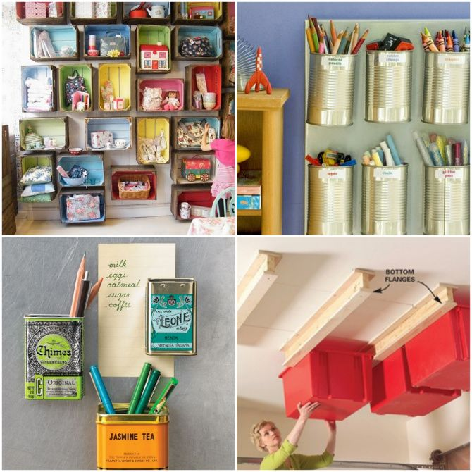 Get Organized:  25 Totally Clever Storage Tips  Tricks