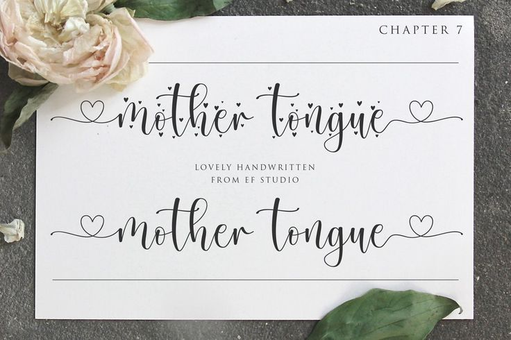 New free font 'Mother Tongue Personal Use' by Ef Studio