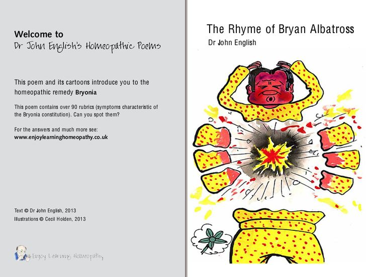 The Rhyme of Bryan Albatross Enjoy learning about Bryonia and spot all the rubrics