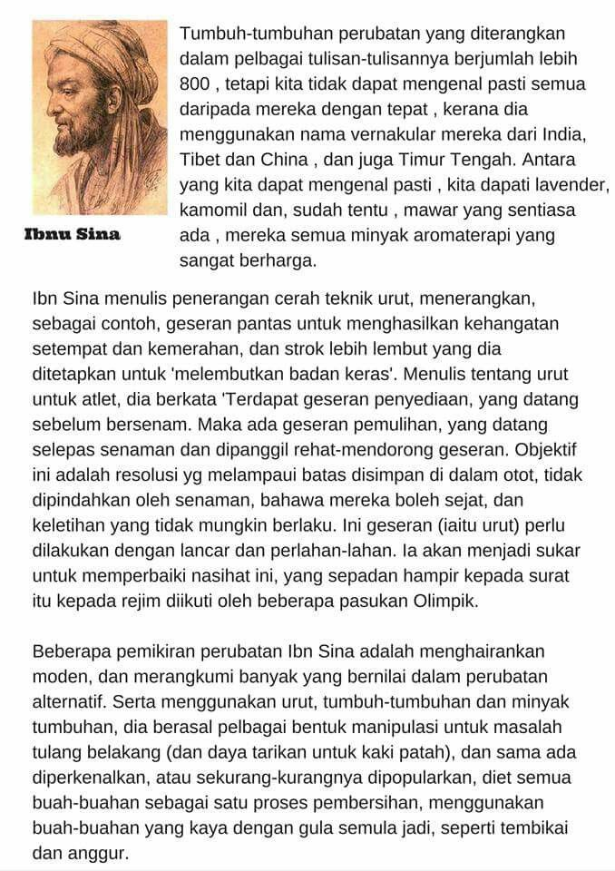 Ibnu Sina peneraju aroma terapi zaman kegemilangan Islam