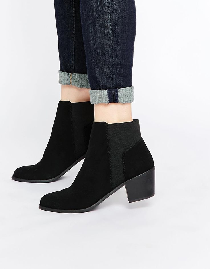 ASOS RIDE THE WAVE Chelsea Ankle Boots · Black ...