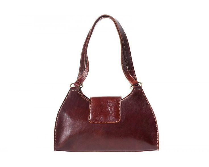 Úžasně elegantní kožená kabelka Florence Melissa. Dá se nosit přes rameno nebo v ruce.