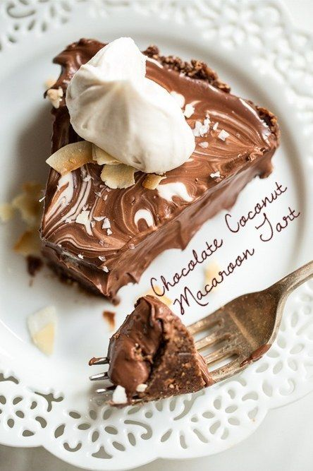 Chocolate Coconut Macaroon Tart