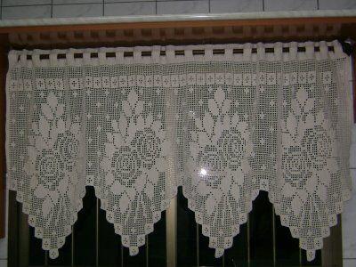 BethSteiner: Cortina de crochêCurtains, Crochet Curtains, Clear-Blue Curtains, Bandô De, Quaver, Crochet Fabric, Filet Crochet, Crochet Filet