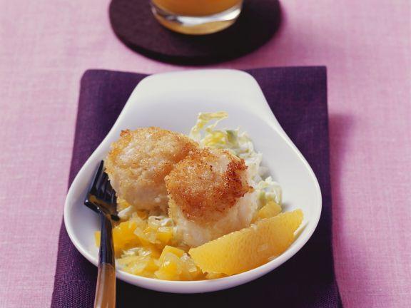 Gebratene Jakobsmuscheln mit Zitrus-Mangochutney ist ein Rezept mit frischen Zutaten aus der Kategorie Muscheln. Probieren Sie dieses und weitere Rezepte von EAT SMARTER!