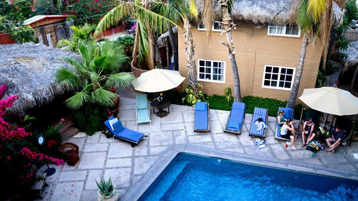 The family-run Bungalows Hotel, a quieter option located in downtown Cabo San Lucas, has reopened after undergoing repairs. Christopher Reynolds/Los Angeles Times