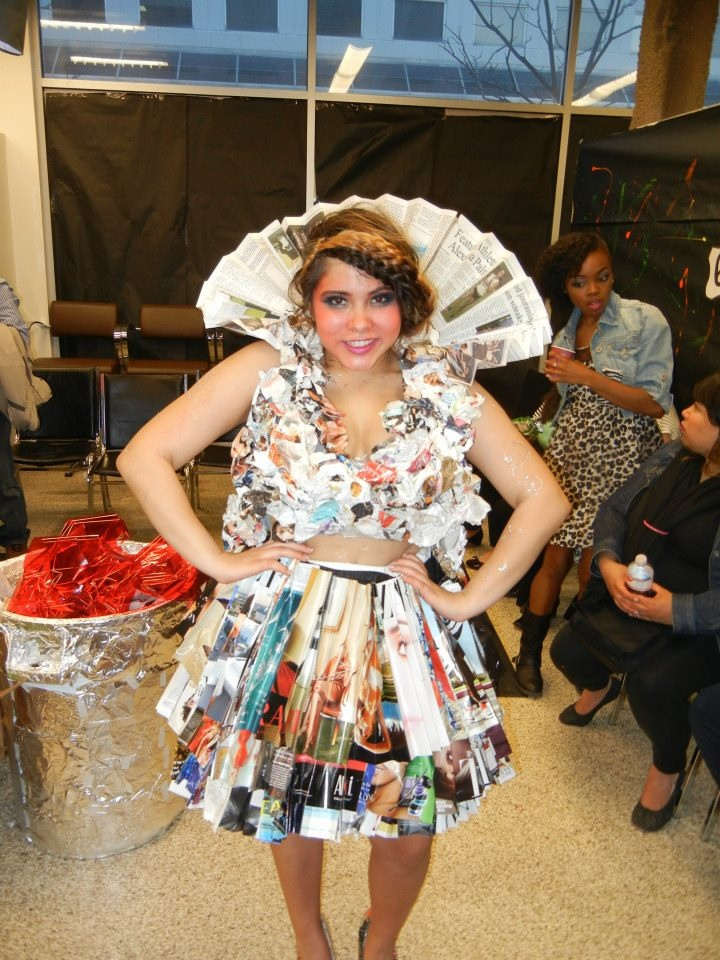 Nice creation - At the Recycled Fashion Show!