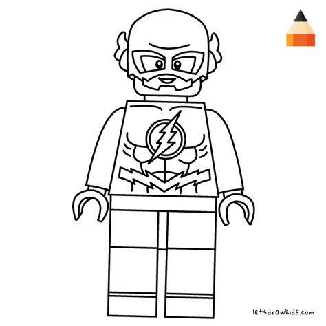 Coloring page for Kids - How To Draw LEGO Flash (avec ...
