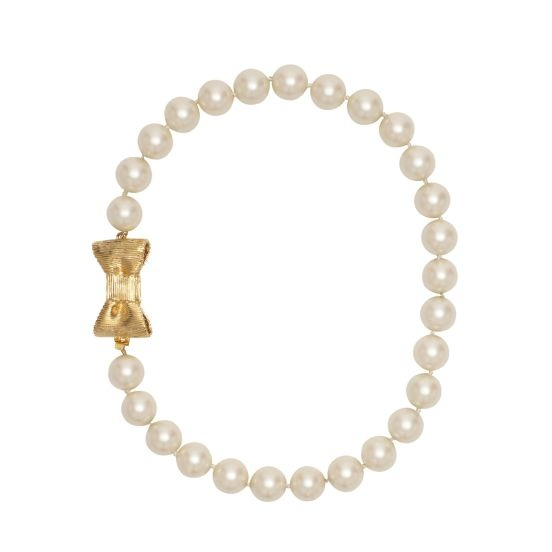 Kate Spade. Love this sooo much: Bride Necklace, Cute Bows, Necklaces 128, Bows Girly Vintage, Pearl Necklaces, Gold Bows, Bows Bracelets, Katespade, Bows Pearls