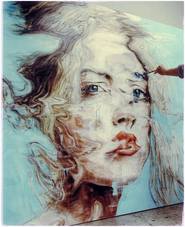 I first discovered Harding Meyer through my A-level art and have since really loved his distortion of model portraits found in the mass media.