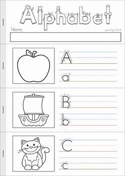 alphabet letter sounds review no prep my tpt products alphabet kindergarten literacy. Black Bedroom Furniture Sets. Home Design Ideas