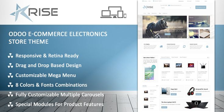 Rise is a modern #eCommerce #theme for #electronics. It includes all the necessary features and can be used to create an amazing electronics portal.