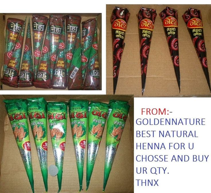 NATURAL HENNA CHOICE & BUY * henna cone & tubes multi color temporary tattoo pas #neha