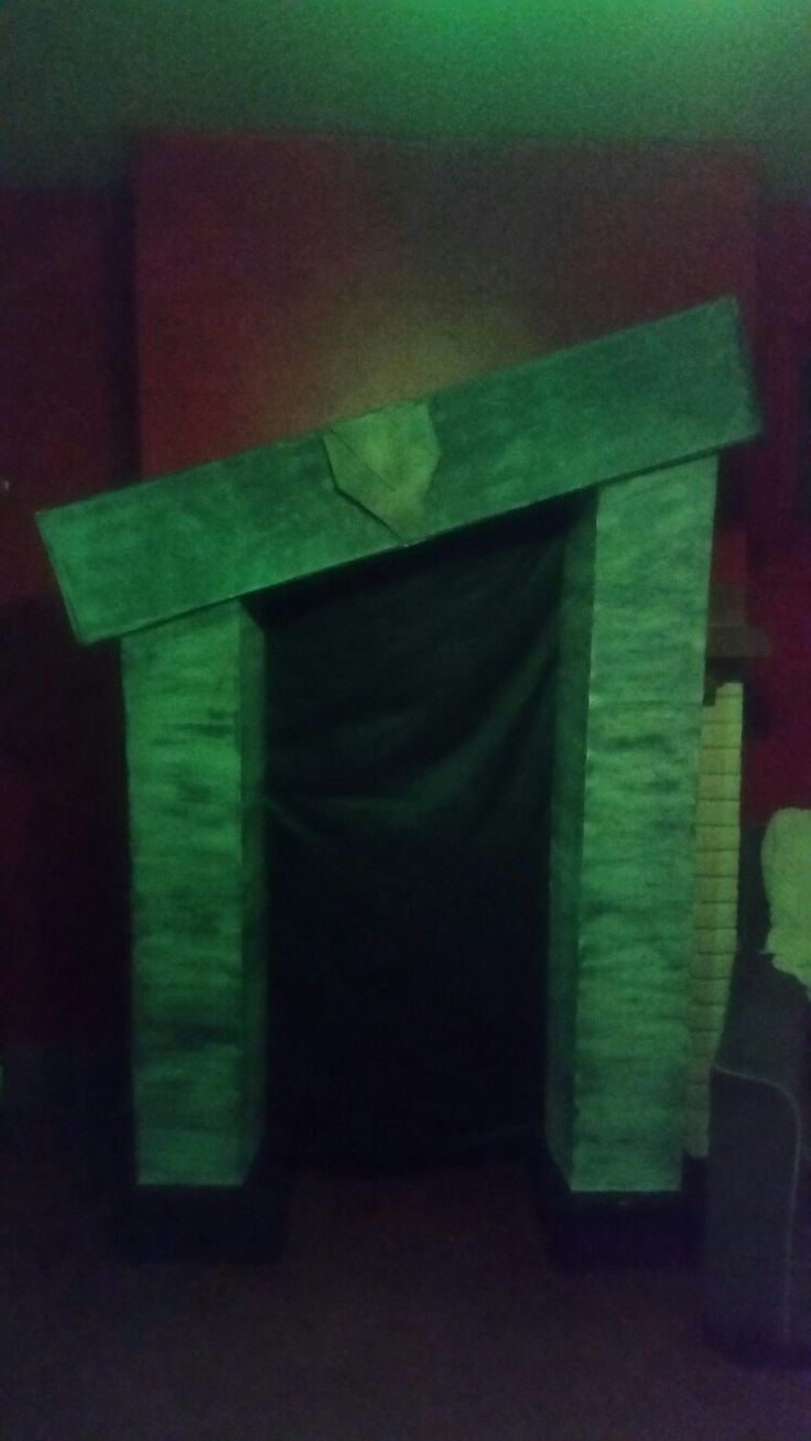 Beetlejuice fireplace I made using only dollar store products for my Tim Burton Bash  Halloween
