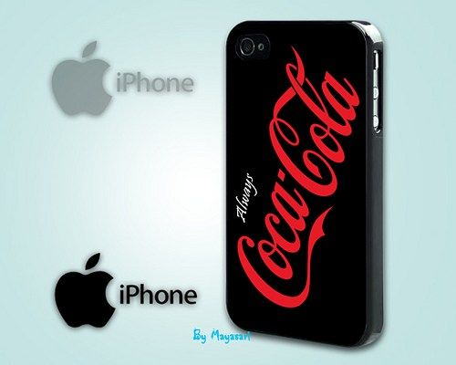 """Softdrink Soda Logo 2 Print on Hard Plastic For iPhone 5 Case, Black Case  This case is available for: iPhone 4/4S iPhone 5/5S iPhone 6 4.7"""" screen Samsung Galaxy S4 Samsung Galaxy S5 iPod 4 iPod 5  P"""