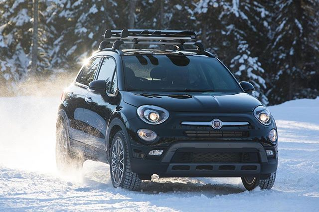 Snow and weekends go together like the #FIAT #500X and available AWD. #fiatusa #adventure #carsofinstagram #carstagram #car #auto #italiancar #crossover #weekendwarrior #winterweekend