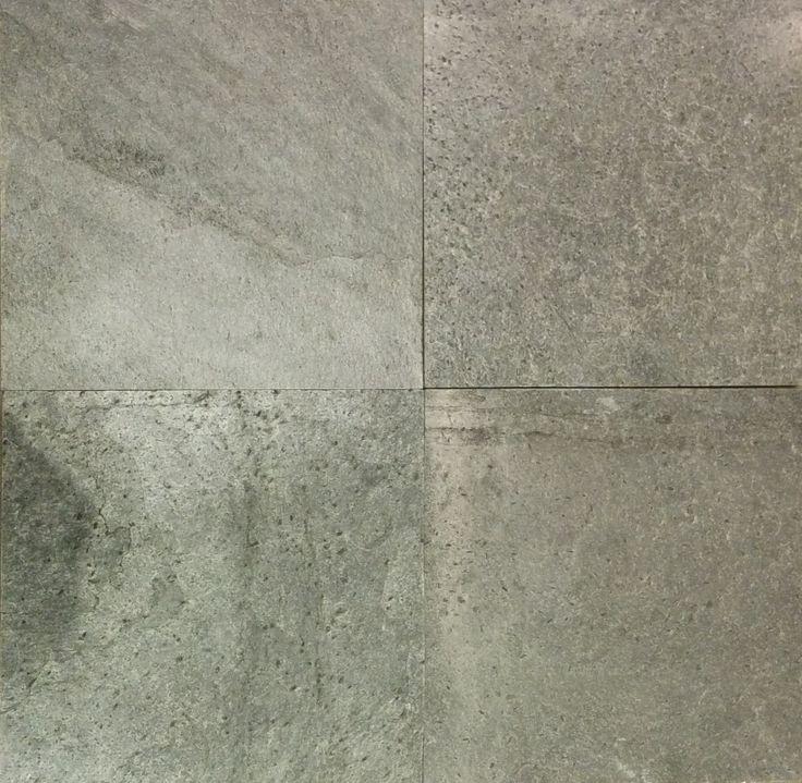 "Natural Silver Gray Slate - 12""x12"" Tile www.profiletile.com"
