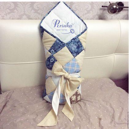 Для новорожденных, ручной работы. Ярмарка Мастеров - ручная работа. Купить Одеяло на выписку для новорожденного. Handmade. Разноцветный, конверт для малыша