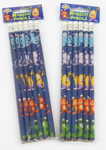 12 Monster Alien Theme Pencils with Eraser - Childrens Party Loot Bag Toy Perfect Party World http://www.amazon.co.uk/dp/B008280OEE/ref=cm_sw_r_pi_dp_IAH0vb1FCCBK5