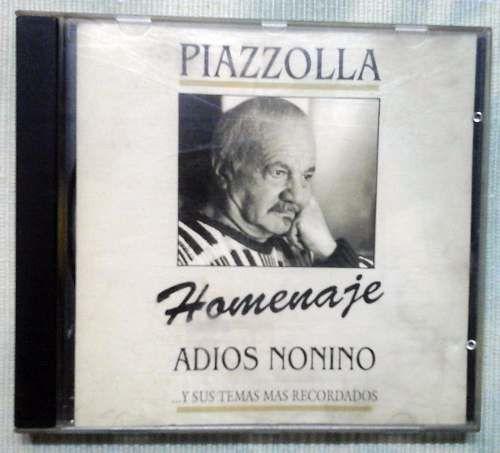 Cd: #AstorPiazzolla Homenaje Adiós Nonino Y Sus Temas Mas #tango $90