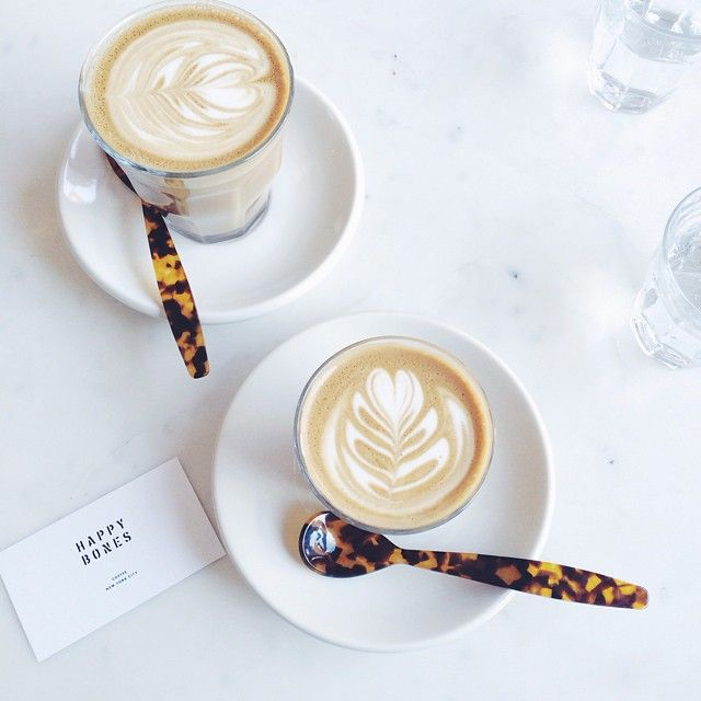 Proven fact: coffee tastes even better when stirred with pretty spoons as seen at Happy Bones NYC.