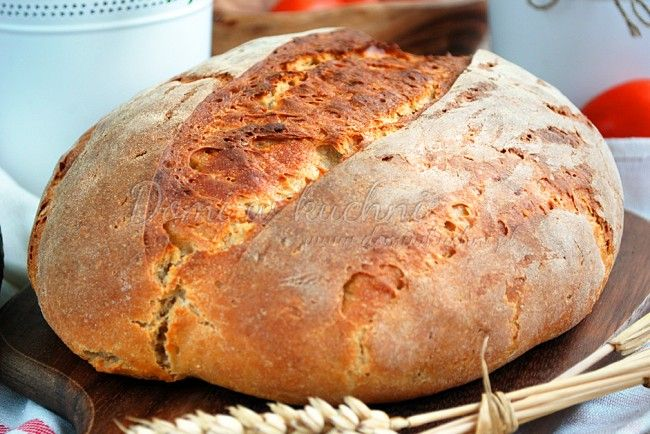 Delikatny chleb pszenny na zakwasie | Domi w kuchni