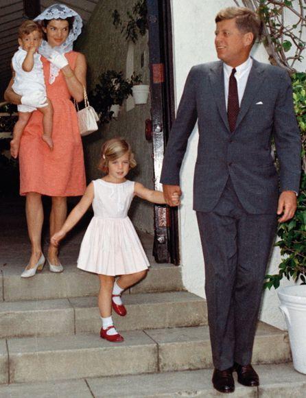 JFK, Jr., Jackie, Caroline and President John F. Kennedy- family