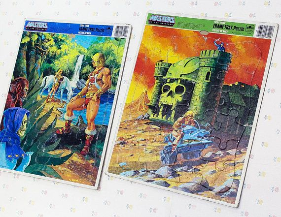 Vintage 80s Masters Of The Universe Frame Tray Puzzle For Kids He Man Jigsaw Puzzles Vintage Cartoon Vintage Cartoon Puzzles For Kids Masters Of The Universe
