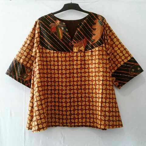 my project: batik tunic made from batik solo sogan