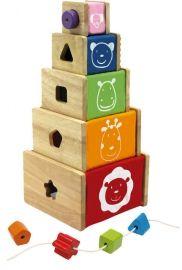 Dřevěné hračky - Motorické hračky - Multi - krabice na hraní