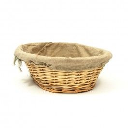 Oval Linen Wicker Banneton / French-style proving basket for artisan bread making