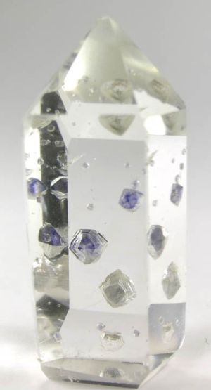 Quartz crystal with Fluorite inclusions.