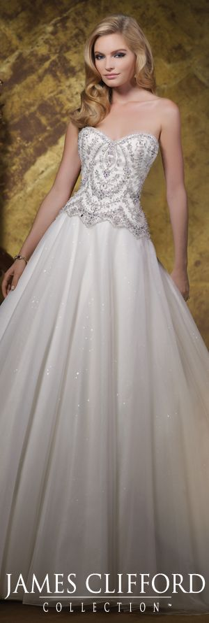 The James Clifford Spring 2015 Wedding Dress Collection - Style No. J11585 jamescliffordcollection.com #weddingdresses