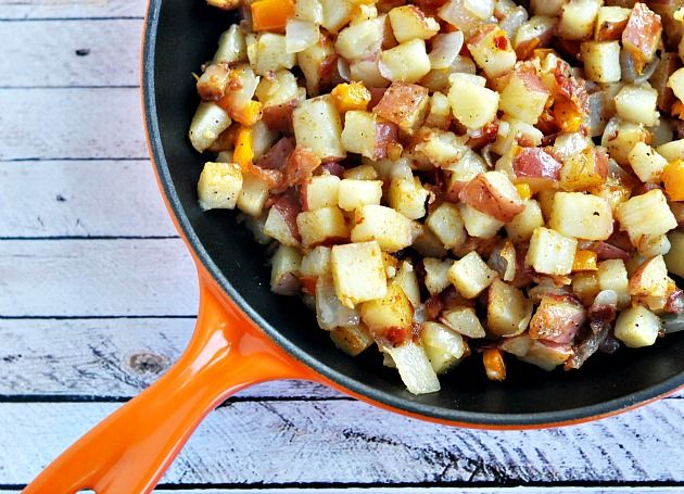how to make home fries with red potatoes