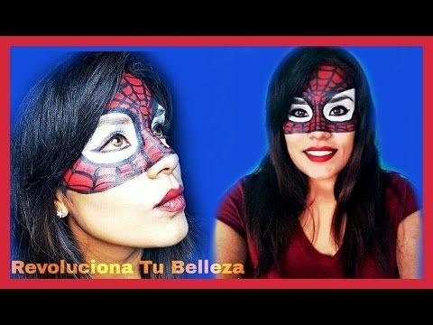 Maquillaje Para Halloween: Spider Woman / Maquillaje Del Hombre Araña / Disfraz De Superheroe - YouTube