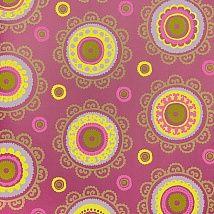 Фото: Яркие восточные обои: розовый фон и желтая шамбала. Для хиппи-интерьеров 314010 - Ампир Декор
