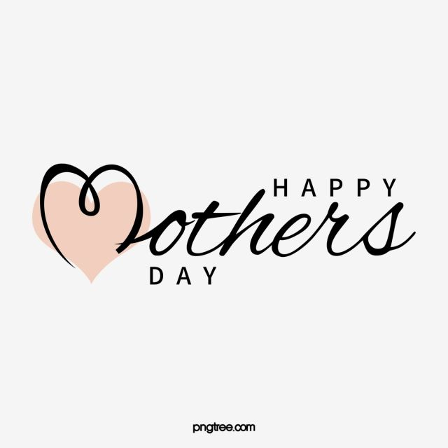Happy Mothers Day Pink Black S Png Transparent Clipart Image And Psd File For Free Download Happy Mothers Day Happy Mother S Day Card Happy Mothers