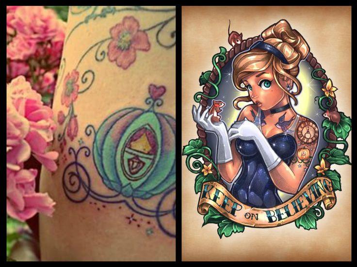 """""""I sogni son desideri di felicità"""". Chi non conosce questa frase del cartone Disney Cenerentola? Scopri tutti i tatuaggi ispirati a Cenerentola più belli!"""