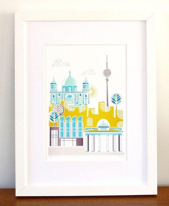 Berlin Germany  European City Art Print by lauraamiss on Etsy, €10.00