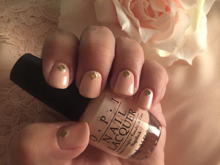 O-P-I Sweet Heart #gold #goldstuds #light #pink #pale #OPI #sweetheart