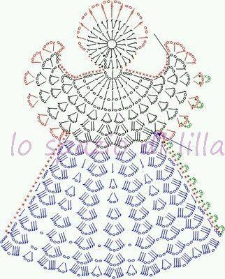 lo spazio di lilla: Collezione di angeli all'uncinetto con schemi / Crochet angels collection, free charts
