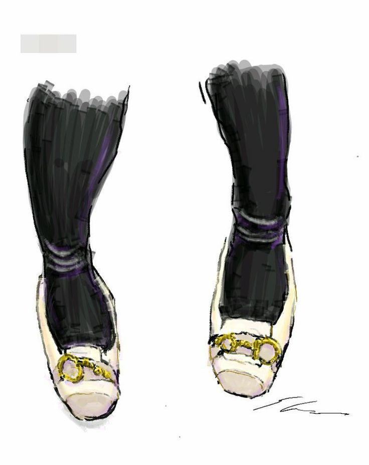 It is a sketch of shoes with a metal fittings. I drew while commuting on a train with the GALAXY Note.