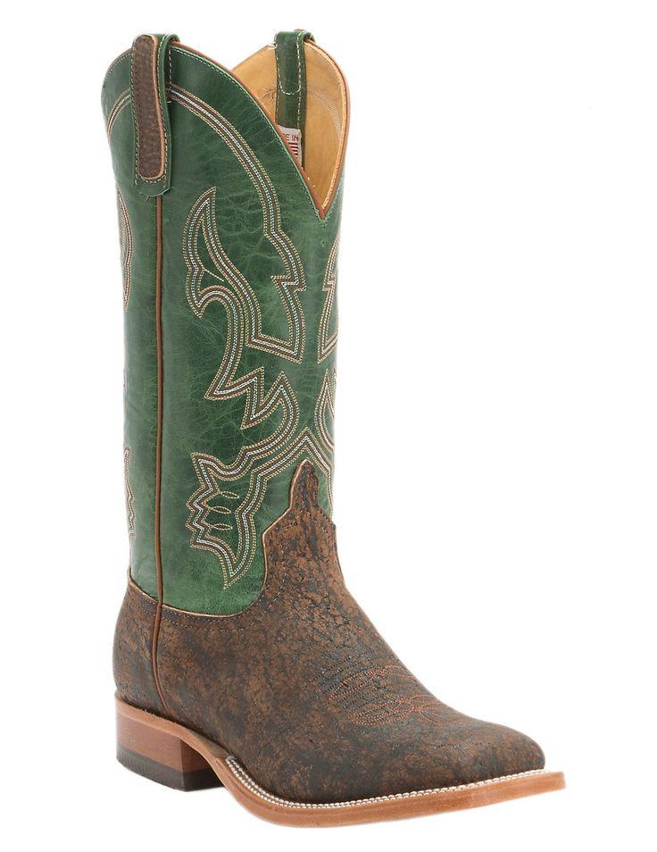 Anderson Bean Men's Rust Safari Giraffe with Emerald Top Square Toe Western Boots   Cavender's