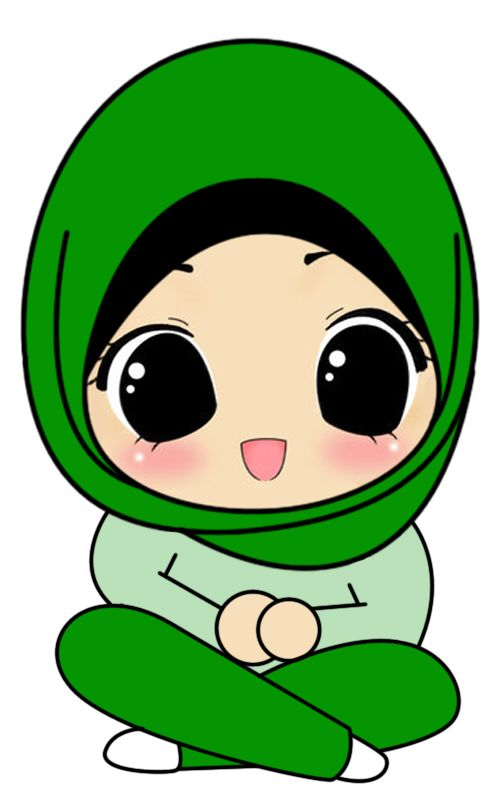Fizgraphic Design & Printing: Freebies Doodle Muslimah Duduk Bersila Cute