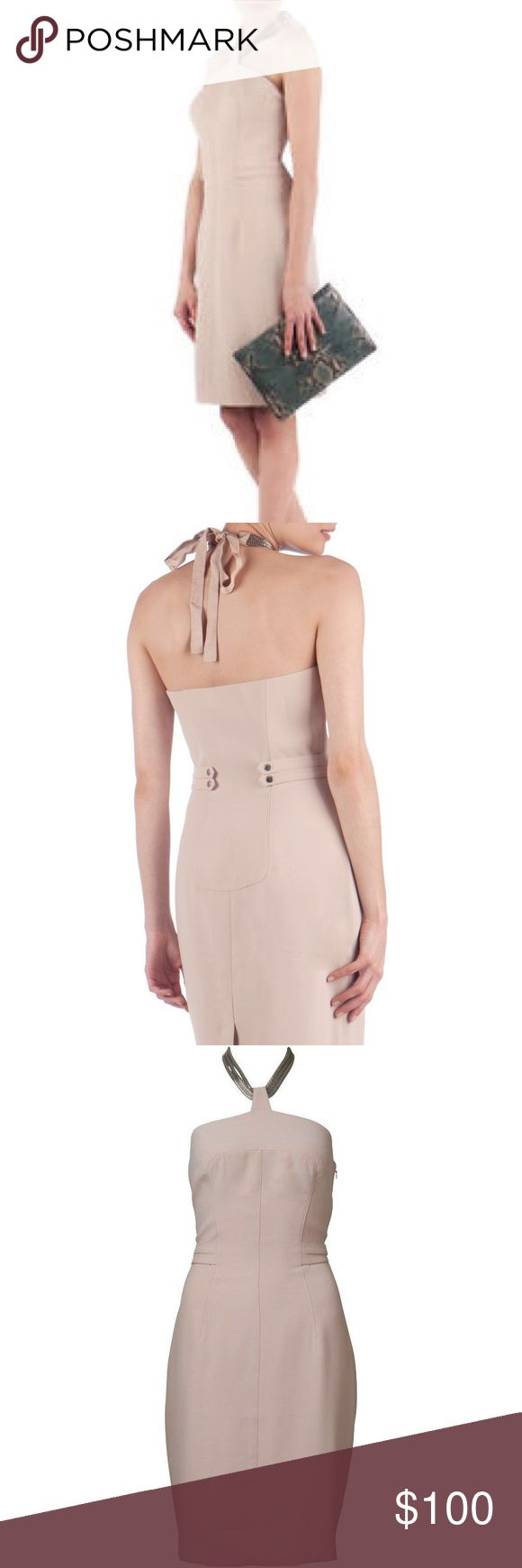 🎉1 DAY SALE🎉 New Ted Baker ANMO Halter Dress Beautiful new, never worn Ted Baker ANMO halter neck dress in tan with chain halter. Original brand tag marked to prevent store return. Size 4 Ted Baker is a Size 10 US. 👗1 DAY SALE price is firm👗 Ted Baker Dresses
