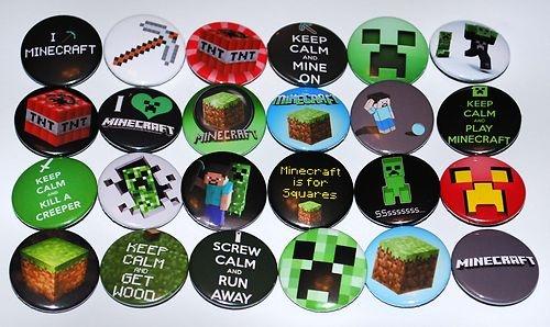 £7.99 MINECRAFT Badge Set, online gaming, mine craft, pc gamer, mining, creeper | eBay