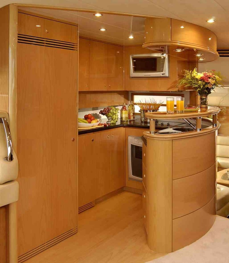 yellow cabinets kitchen probably a boat kitchen but still small and stylish 29512