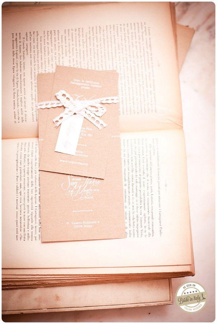 Crafty chic invitation by CutANDpaste Lab, ph Infraordinario http://www.brideinitaly.com/2013/01/real-wedding-crafty-chic-per-amanti.html #italianstyle #wedding