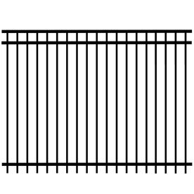 We would like to redo the fence around the pool in a wrought iron look. Help us buy purchasing some panels: 6-ft x 8-ft Black Galvanized Steel Fence Panel lowes.com $176