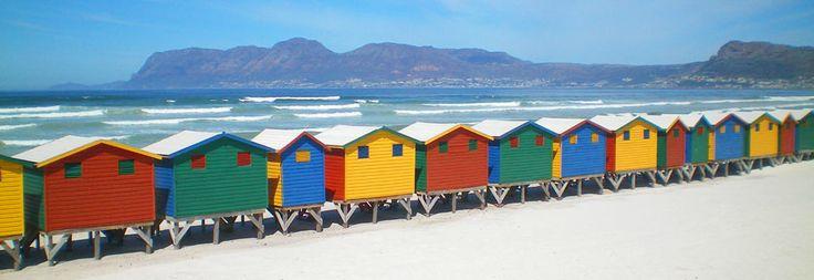 Colourful beach houses on the Falsebay coast... #CapeTown